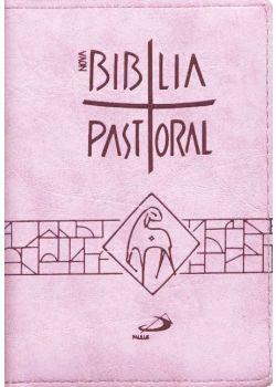 Nova Bíblia Pastoral - Média - Zíper Rosa