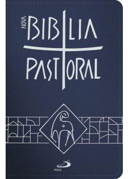 Nova Bíblia Pastoral - Média Zíper Azul
